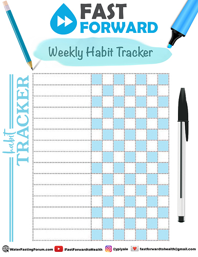 Habit Tracker Worksheet