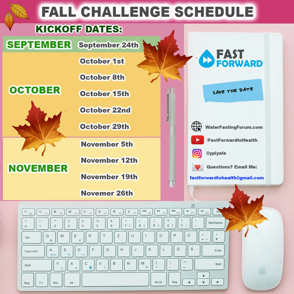 Fall Challenge Schedule
